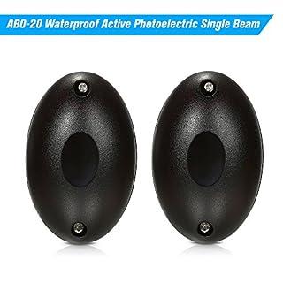 OWSOO ABO-20 Waterproof Active Photoelectric Single Beam Infrared Sensor Barrier Detector for Gate Door Window Burglar Alarm System