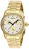 Invicta 28469 Angel Montre Femme acier inoxydable Quartz Cadran or