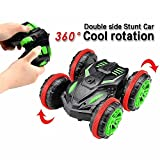 Enlarge toy image: POBO RC Car Amphibious Waterproof Stunt Remote Control Vehicle 2.4GHz 4WD Off Road Radio Controlled Truck, Double-Side, 360 Degree Spins and Flips