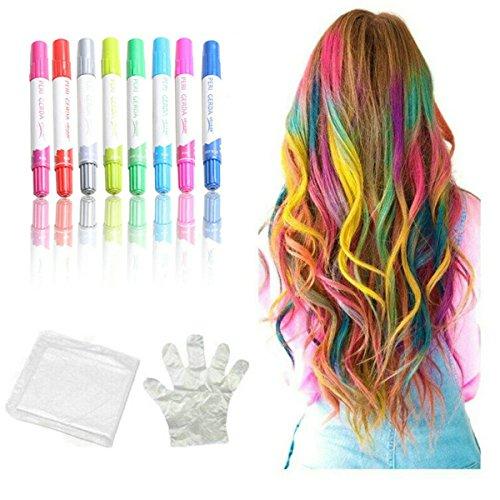 et 12temporäre Haar Farbe Pen waschbar Sofortige Haarfarbe für Mädchen Kinder Damen und Herren (Waschbar Haar-spray-farbe)