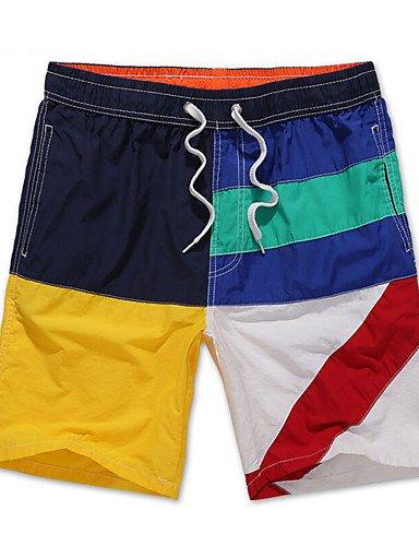 Da uomo Taglie forti Largo Pantaloni della tuta Pantaloncini Pantaloni-Semplice Boho Attivo Casual Spiaggia Sportivo Monocolore CollageA Black