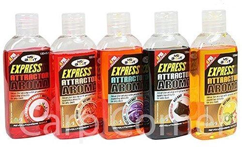 5x-100-ml-Fishing-Carp-Bait-enhancement-Glug-Boilie-Dip-Halibut-Scopex-Strawberry-Tutti-Krill