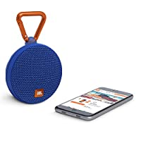 JBL Clip 2 Waterproof Portable Bluetooth Speaker - Blue, JBLCLIP2BLUAM