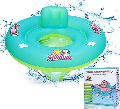 Milidom Baby Schwimmring I Baby Schwimmsitz mit Rückenlehne 6 Monate - 6 Jahre (Medium)