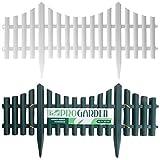 Gartenzaun Plastik 4 Teile Holzeffekt - Weiß