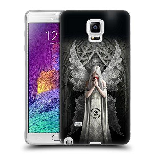 Ufficiale Anne Stokes Alato Solo Amore Cover Morbida In Gel Per Samsung Galaxy Note 4