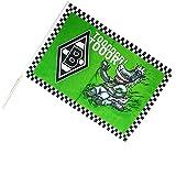 Unbekannt VFL Borussia Mönchengladbach Herren Borussia Mönchengladbach-Fohlenelf-Artikel-Stockfahne Jünter-60 x 40 cm Flagge, Mehrfarbig