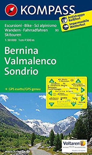 Bernina - Sondrio 93 kompass GPS wp D/I par Kompass-Karten