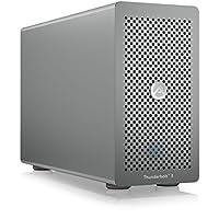 AKiTiO Node Lite Thunderbolt 3 Gehäuse für 1x PCIe 3.0 Erweiterungskarte (half-length), 2x Thunderbolt 3, 1x DisplayPort, Aluminium, silber