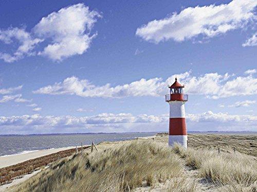 Artland Qualitätsbilder I Glasbilder Deko Glas Bilder 80 x 60 cm Architektur Gebäude Leuchtturm Foto Blau D8SQ Leuchtturm Sylt
