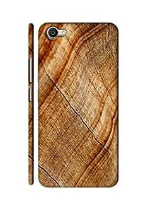 AMAN Wood Chips Pattern 3D Back Cover for Vivo V5 Plus