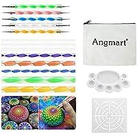 Angshop - Juego de 16 herramientas de puntaje de mandala para pintar rocas, colorear, dibujar y dibujar, manualidades para niños, arte de uñas, pintura