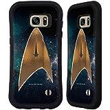 Officiel Star Trek Delta Discovery Logo Étui Coque Hybride pour Samsung Galaxy S7 edge