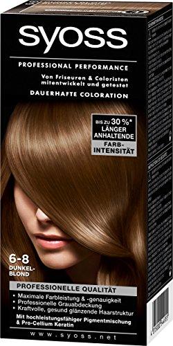 Syoss Professional Performance Coloration, 6-8 Dunkelblond, 3er Pack (3 x 1 Stück)