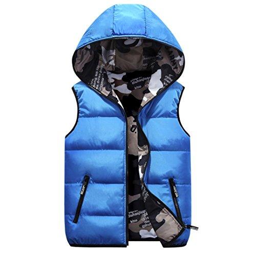 Saingace 1PC Coat, Kids Hooded Jackets Baby Camouflage Dual-purpose Toddler Warm Clothes Coat