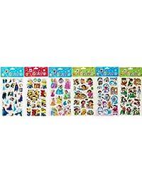 Sticker Collection - Set Of 6 Puffed Sticker Pack Of Frozen, Doraemon, Ben 10, Disney Princess, Minion Despicable...