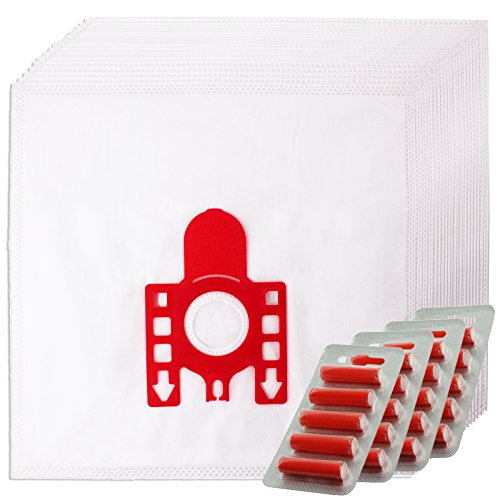 Spares2go FJM Hyclean Type Hoover Bags for Miele Vacuum Cleaners (4, 8, 12 or 20 Bag + Filters + Air Fresheners) 20 Bags + 20 Fresheners