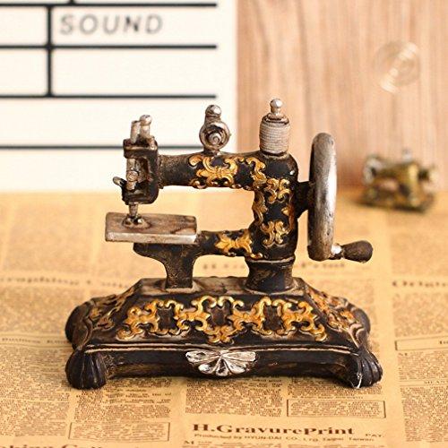 Preisvergleich Produktbild DD Europäische Antike Nähmaschine Ornamente Retro Harz Modell Bekleidungsgeschäft Dekoration Fotografie Requisiten,A