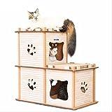 MRXUE Cat House Wellpappe Stereo Cat House Schleif Dach Cat Cat Board Multi-Verformung Cat Klettergerüst