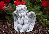 Steinfigur Engel sitzend , massiver Steinguss, frost- und wetterfest bis -30C