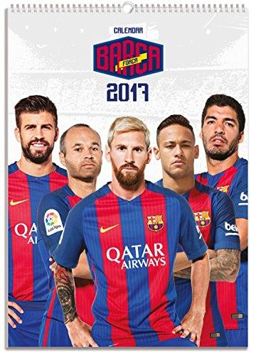 Fútbol – FC Barcelona, Força Barça, Calendario Oficial 2017 Póster Calendario (42 x 30cm)