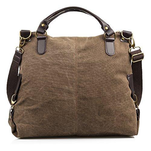 FIRENZE ARTEGIANI. FIRENZE ARTEGIANI.Bolso Shopping Bag Mujer.Lona Premium.Asa y Bandolera Cuero PU...