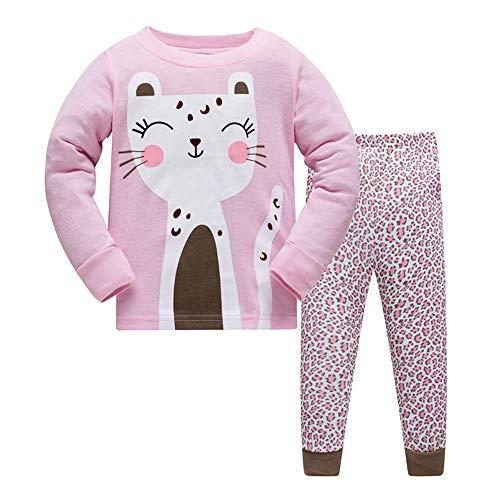Hikids pigiama da gatto da ragazze pigiama a maniche lunghe per ragazza 2 pezzi bambini pigiama 8 anni