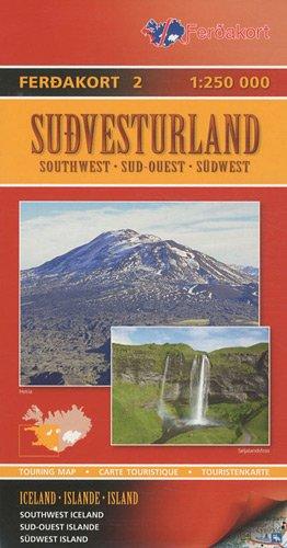 Islande Sud-Ouest : 1/250 000 par Ferdakort