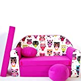 H17-E Childrens Kids Babies mini couch baby sofa bed pouffe pillow 3 in 1 Set foam