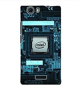 Fuson 3D Printed Intel Designer Back Case Cover for Micromax Canvas Nitro 2 E311 - D1023