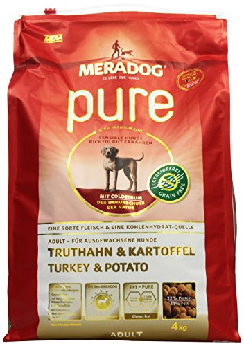 Unbekannt Mera Dog Pure Truthahn&Kartoffel getreidefrei, 1er Pack (1 x 4 kg)