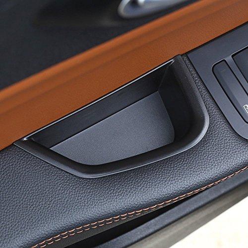 car-styling ABS Kunststoff Innen Dekoration vorne Tür Aufbewahrungsbox schwarz Tidy Zubehör Tablett mit rutschhemmende Matte Set von 2Für Giulia 2017