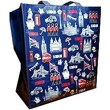 My London Souvenirs - Bolsa de mano con diseño de monumentos icónicos de Londres Bolsa de
