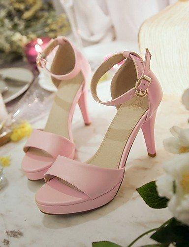 UWSZZ IL Sandali eleganti comfort Scarpe Donna-Sandali-Formale / Serata e festa-Tacchi / Plateau / Con cinghia / Aperta-A stiletto-Finta pelle-Nero / Rosa / Bianco Black