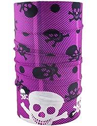 headloop multifunción Toalla Calavera Varios Colores bufanda pañuelo Manguera, morado