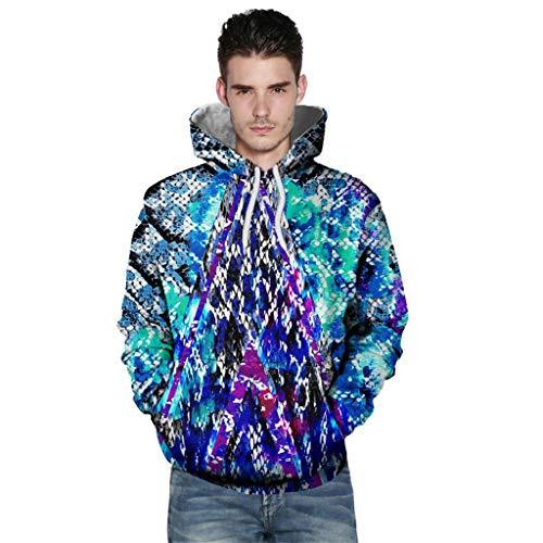 R-Cors Unisex 3D Druck Kapuzenpullover Sweatshirt Langarm Herren Top Shirt Herbst Hoodie Jackeshirt Mantel -