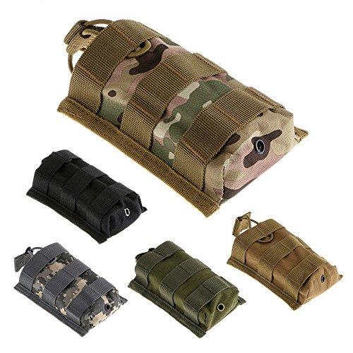 newnet Outdoor Magazintasche, Größe Weste Gear Vertikal Nylon Tasche Munition Beutel schwarz - schwarz