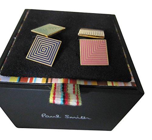Paul Smith Manschettenknöpfe, Design Geometric lines- Zwei Ton Deco–Kette Verschluss Manschettenknöpfe (Smiths Ton)