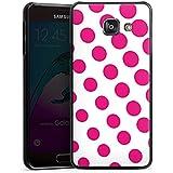 Samsung Galaxy A3 (2016) Housse Étui Protection Coque Points Rose vif Blanc