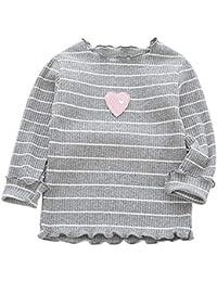 ESHOO Kleinkind Baby Mädchen Kleidung Winter Streifen Langarm Tops T-Shirt Bluse Herbst Outfits Geschenk