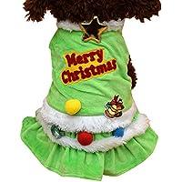 Forepin®Vestiti Caldo Felpa Gilet Giacca Cappuccio Cappotto per dell'animale domestico Cane Abbigliamento di Natale (Albero di Natale S)