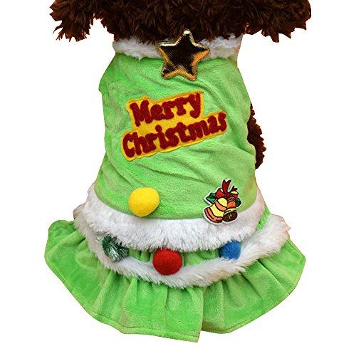 Forepin®Vestiti Caldo Felpa Gilet Giacca Cappuccio Cappotto per dell'animale domestico Cane Abbigliamento di Natale (Albero di Natale XXL)