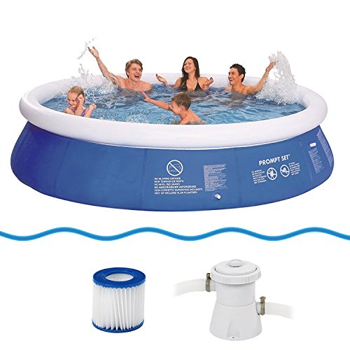 Jilong Prompt Set Pool Marin Blue 360 Set - Quick-up Pool Set mit Filterpumpe 360x76cm