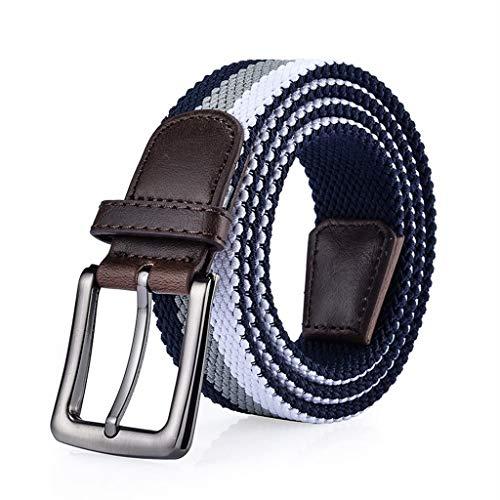 Männer elastisch geflochten mit Schnalle Unisex Männer Frauen Vintage lässig elastischen Stoff gewebt (Color : 6#) Trim Jeans Hose