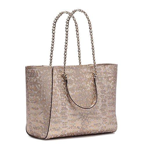 Guess Nikki Chain shopping bag tote python