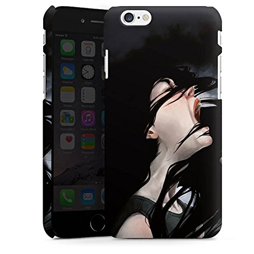 Apple iPhone X Silikon Hülle Case Schutzhülle Schrei Mädchen Kunst Premium Case matt