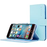 iPhone 6 Case, Snugg - Baby Blue Leather iPhone 6 Flip Case [Lifetime Guarantee] Premium Wallet Phone Cover with Card Slots for Apple iPhone 6