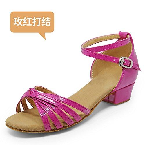 Wuyulunbi@ ballo latino sala da ballo scarpe da ballo le scarpe da ballo 801 rose