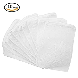 greestore 10 pcs aquarium filter mesh bags, filter media nylon net bag with zipper, for aquarium garden pond, 15x20cm GreeStore 10 Pcs Aquarium Filter Mesh Bags, Filter Media Nylon Net Bag with Zipper, for Aquarium Garden Pond, 15x20CM 51eFYj5sF9L