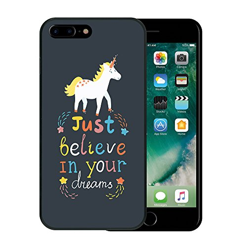 iPhone 7 Plus Hülle, WoowCase Handyhülle Silikon für [ iPhone 7 Plus ] Satz - I Love You To The Moon And Back 2 Handytasche Handy Cover Case Schutzhülle Flexible TPU - Transparent Housse Gel iPhone 7 Plus Schwarze D0116